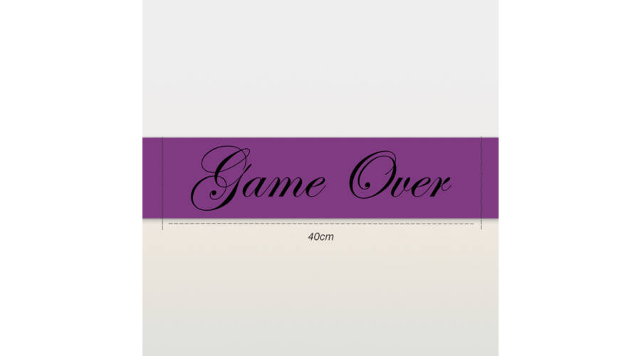 Game Over vállszalag lila - Vállszalagok - Parti kellékek és kiegészítők